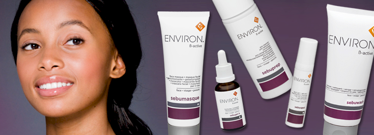 The Environ ß-Active range is a 5 step skin care programme formulated for consumers who have problem skins.